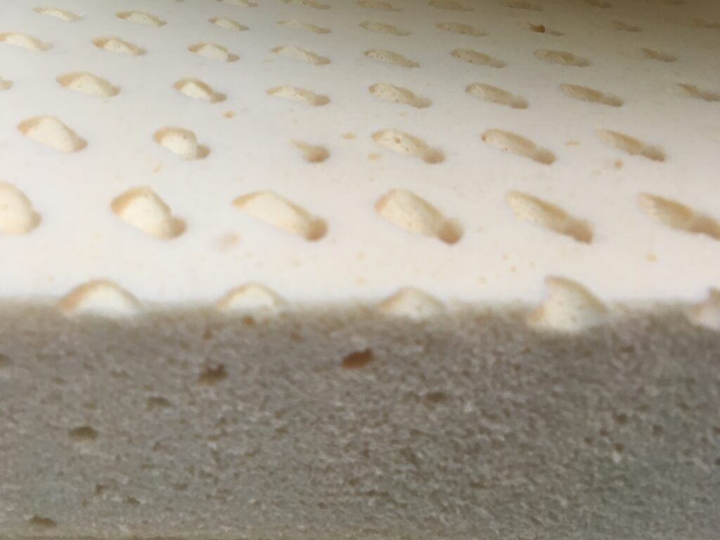 Dunlop block of latex foam