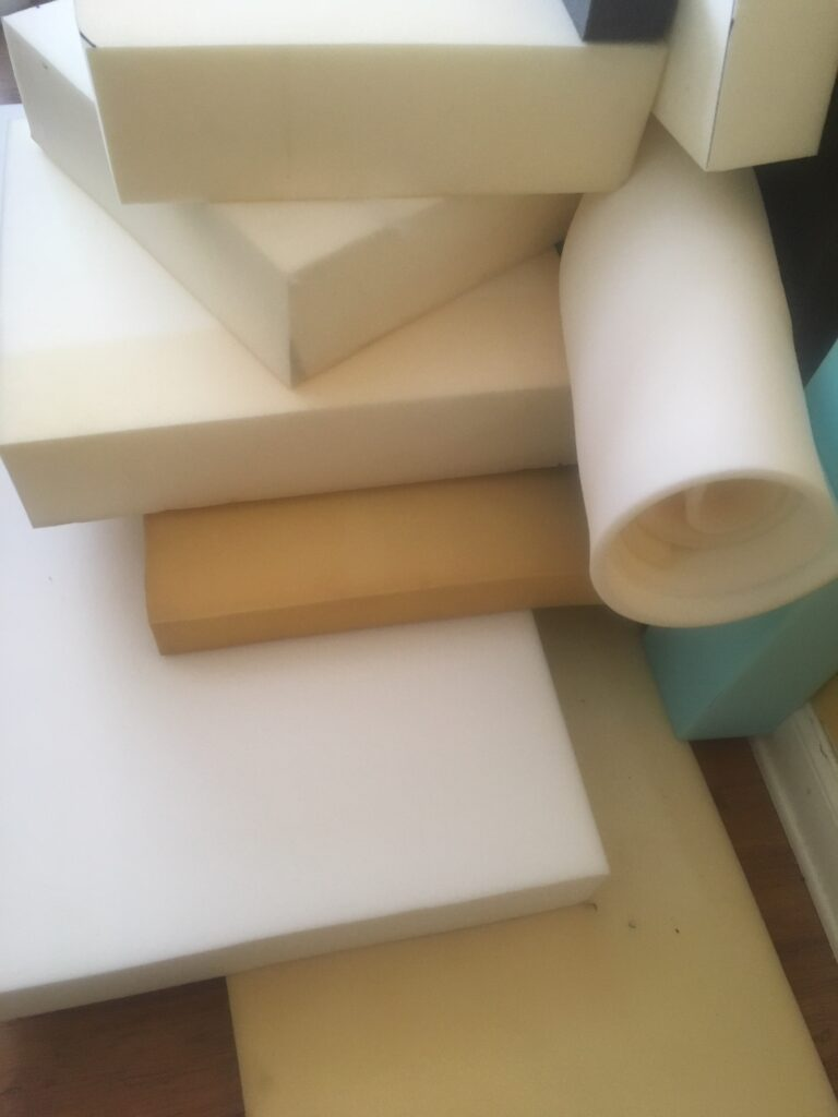 Pieces of foam for sofa cushions