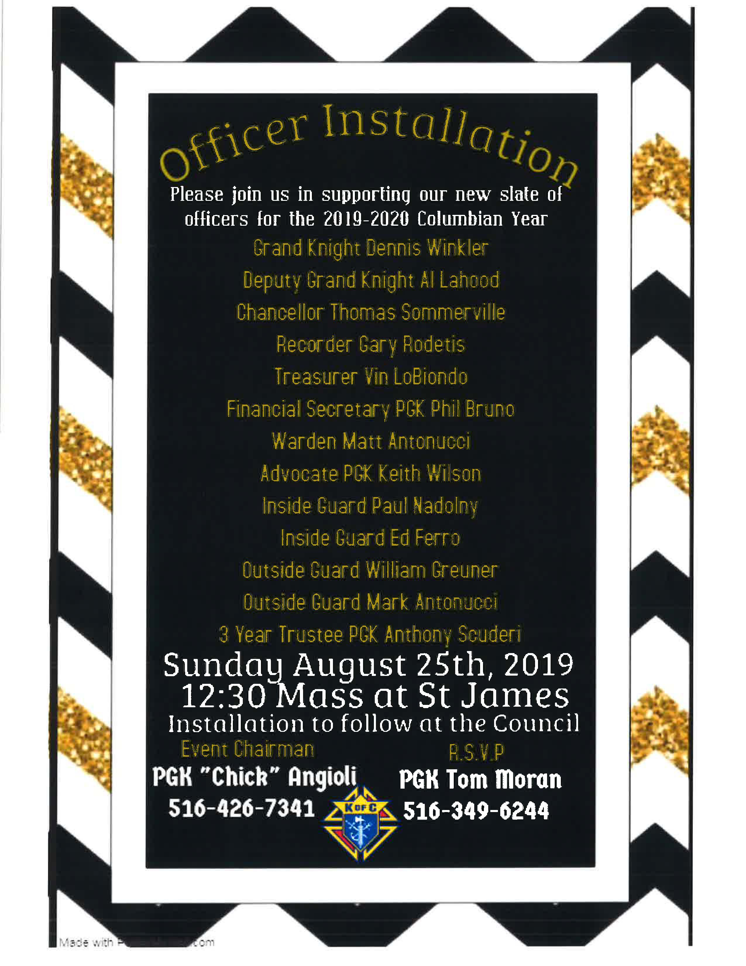 Officer Installation 2019