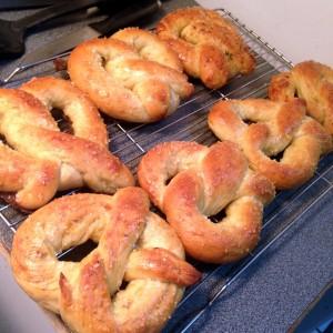 Gorgeous fresh homemade pretzels