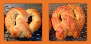 Herb and Cheese and Plain homemade pretzels