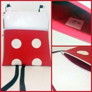 Handmade Vinyl top sling bag handmade in Canada