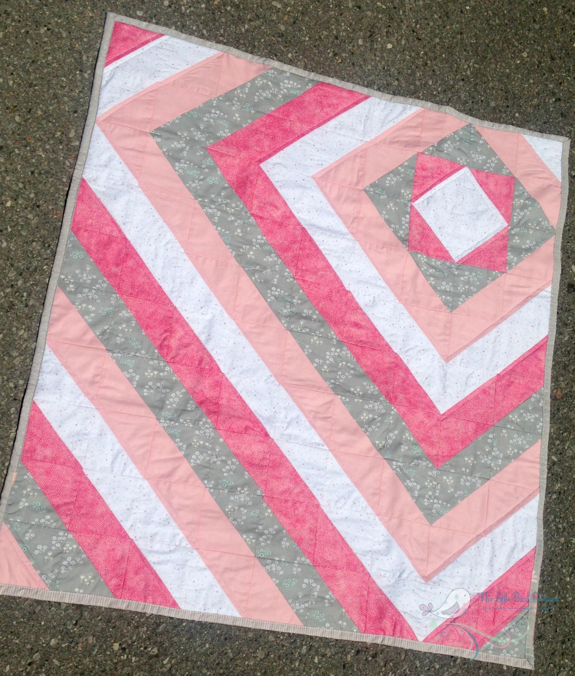 Handmade HST baby quilt front