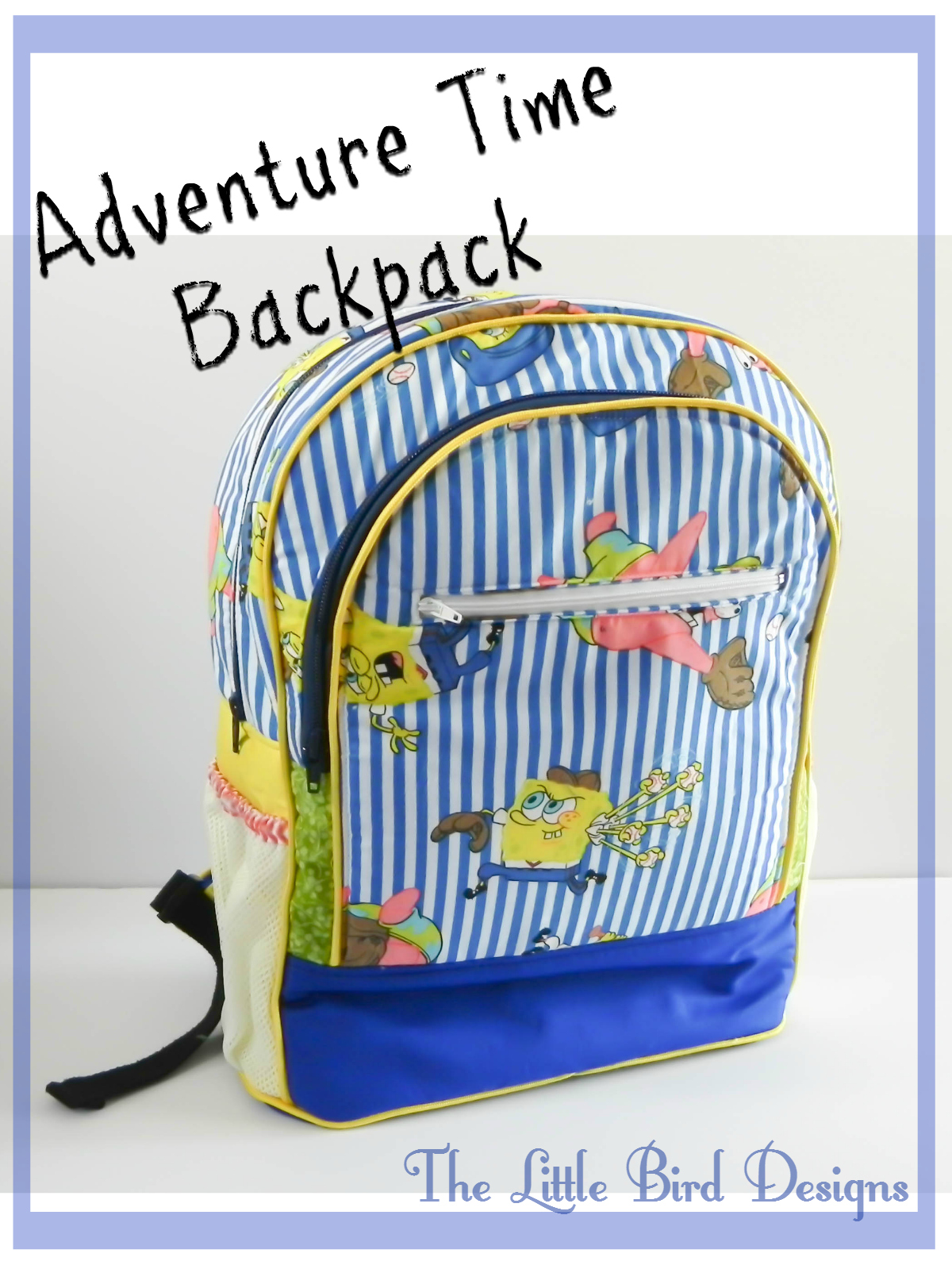Adventure Time Backpack by The Little Bird Designs