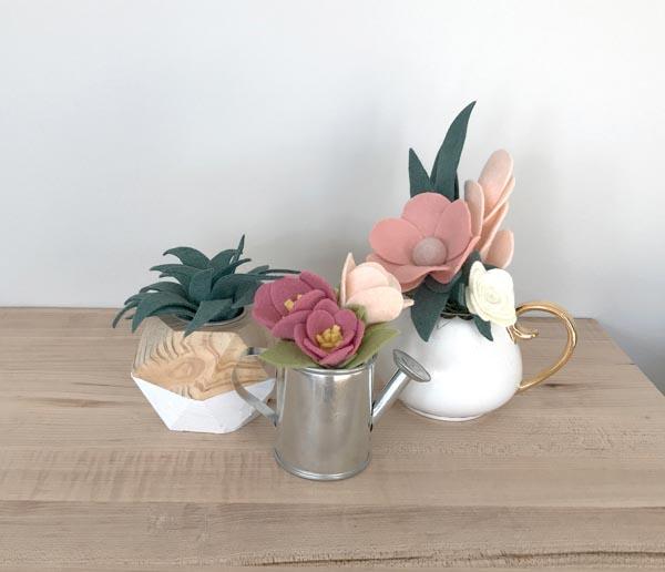 PTBO Makes - Ellebury - The Little Bird Designs felt plants
