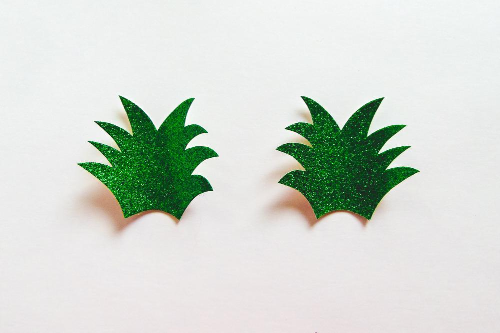 Fluffy Pineapple Key-Chain Tutorial - The Little Bird Designs Step 1