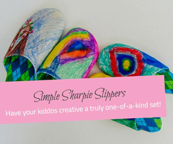 Simple Sharpie Slippers - The Little Bird Designs feature