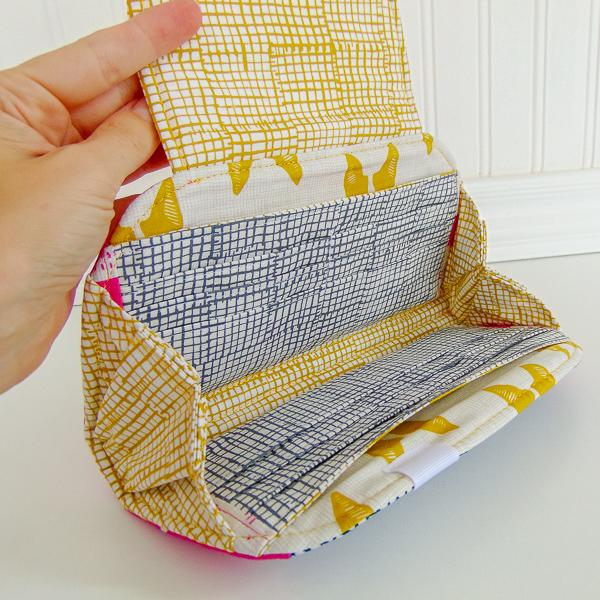 Cleo Everyday Wallet insides - The Little Bird Designs