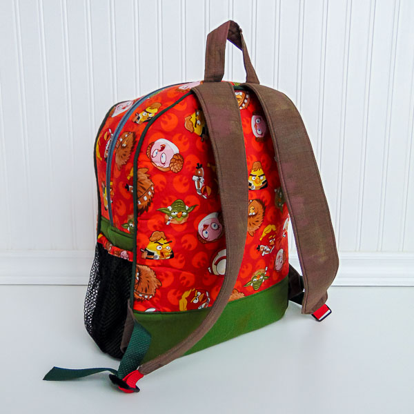 Back of Angry Birds Backpack - The Little Bird Designs