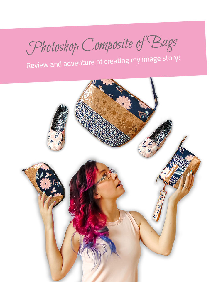 Photoshop Composite of Bags - The Little Bird Designs