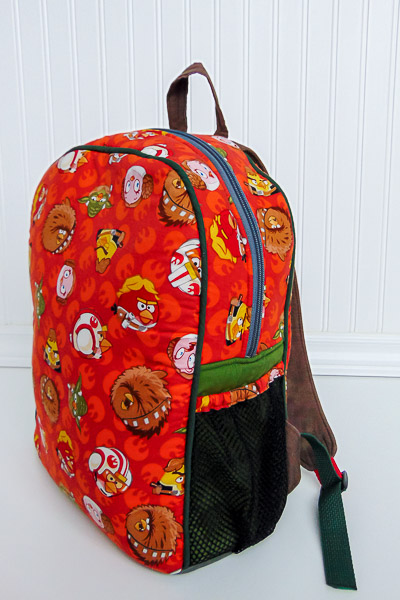 Side 2 Angry Birds Backpack - The Little Bird Designs