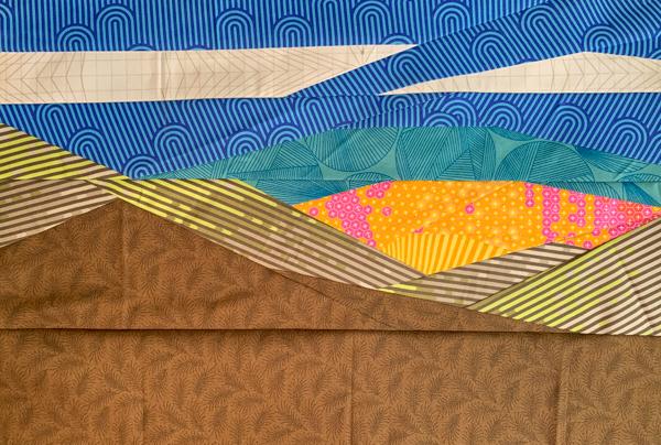 Collette's block - Evening Horizon Foundation Paper Pieced Pattern - The Little Bird Designs
