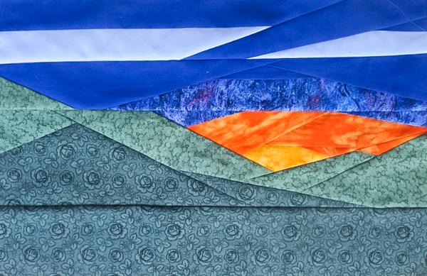 Delores's block - Evening Horizon Foundation Paper Pieced Pattern - The Little Bird Designs