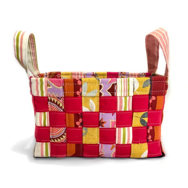 Multicolour Little Woven Basket - The Little Bird Designs