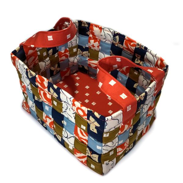 Top Patterned Little Woven Basket - The Little Bird Designs