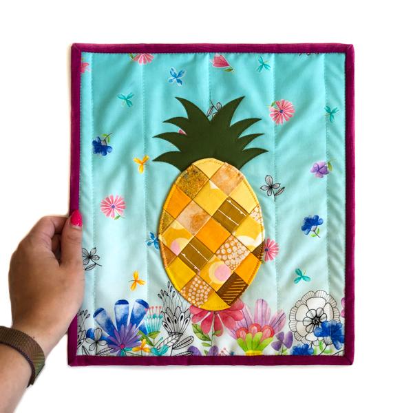 Little Woven Pineapple Mini Quilt - The Little Bird Designs - small