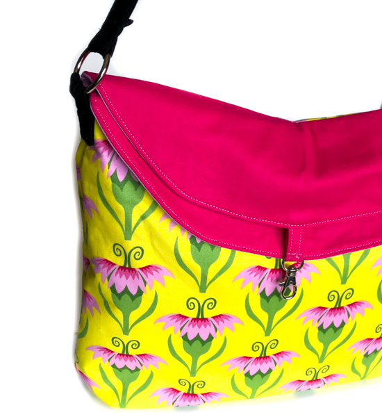Hippo Hobo - Close Up - Beginner Bag Patterns that aren't Boring! - The Little Bird Designs