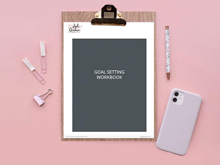 Goal Setting Workbook Review - The Little Bird Designs - feature