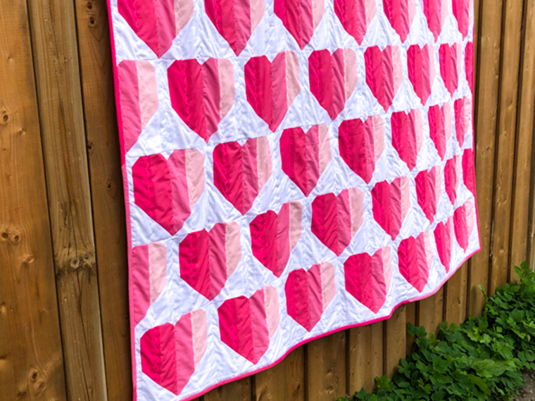 Feature Image - Ashley's Infinite Hears Quilt - The Little Bird Designs