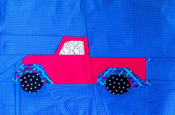Full Little Pink Truck - Little Red Christmas Truck Pattern - The Little Bird Designs