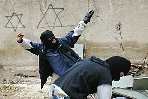 Stone Throwing in Hebron