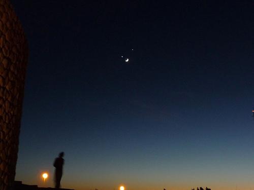 Moon Jupiter and Venus