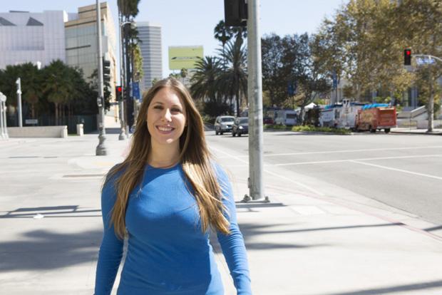 Jamie Gold in her hometown of Los Angeles, California