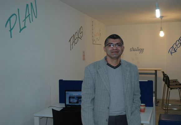 Hafeth in the JEST Offices