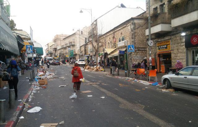 Nir Barkat Jerusalem trash strike