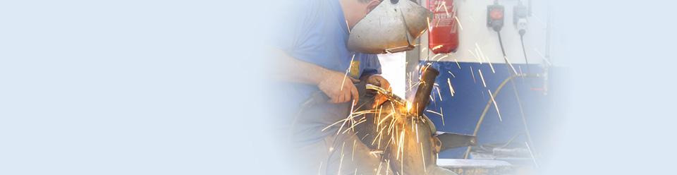 Man using welding tool