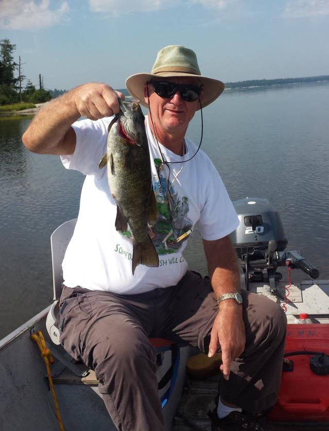 Smallmouth Bass Action on Scenic Lake