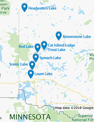 Canadian Fly In Fishing Map