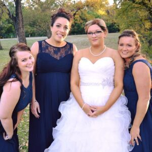 A bride and her bridesmaids