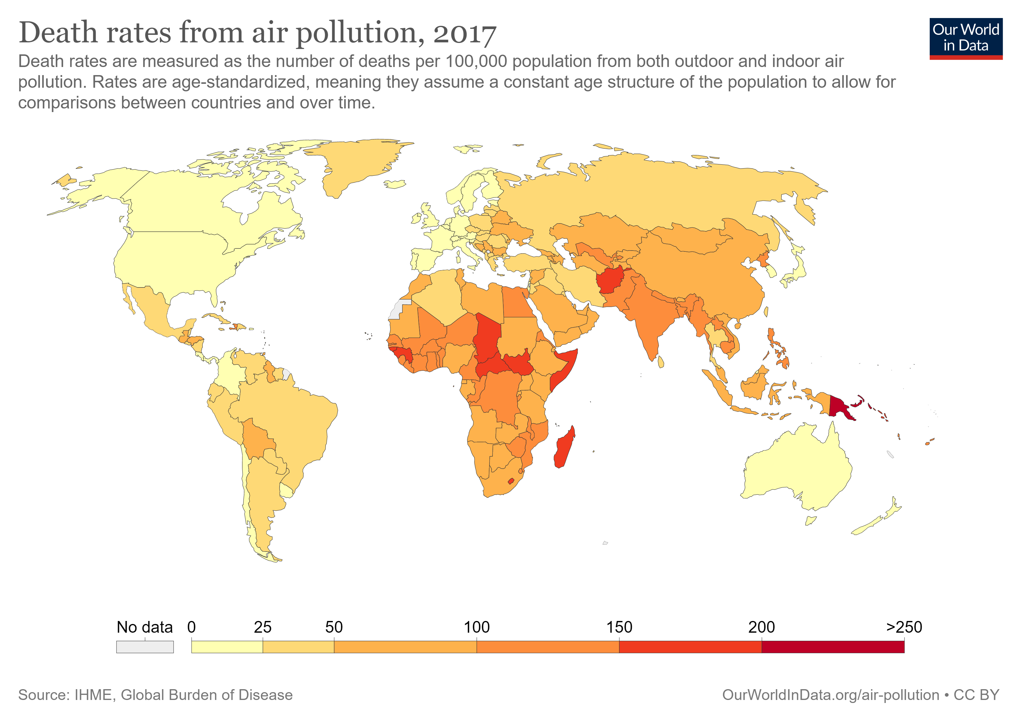 Death rates and pollution