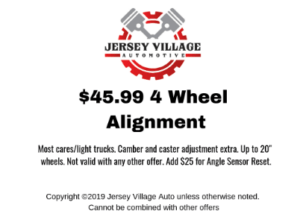 $45.99 4 Wheel Alignment