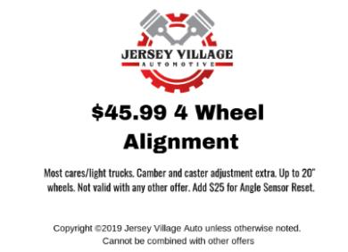 $45.99 4 Wheel Alignment