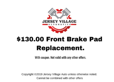 $130 Front Brake Pad Replacement