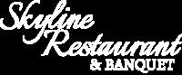 Skyline Restaurant & Banquet White Logo