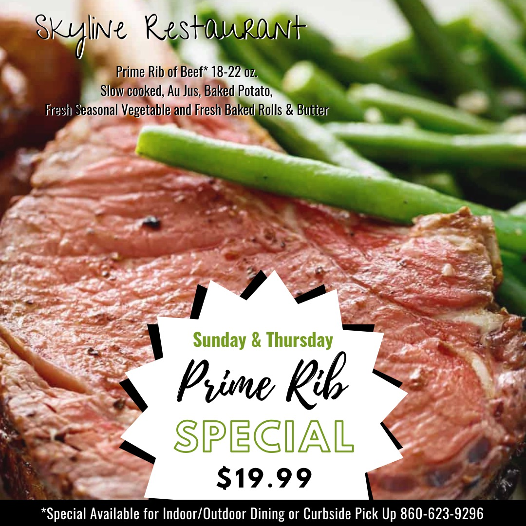 Skyline Restaurant Prime Rib Special