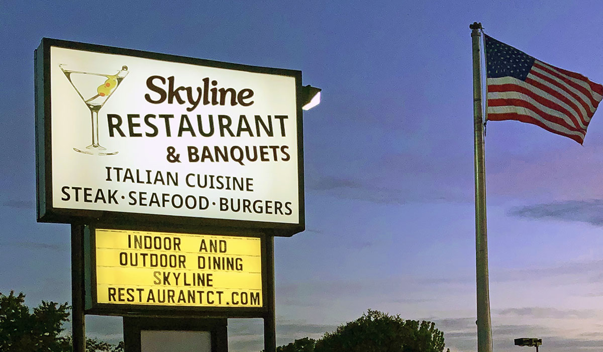 Skyline Restaurant Windsor Locks, CT, Sign