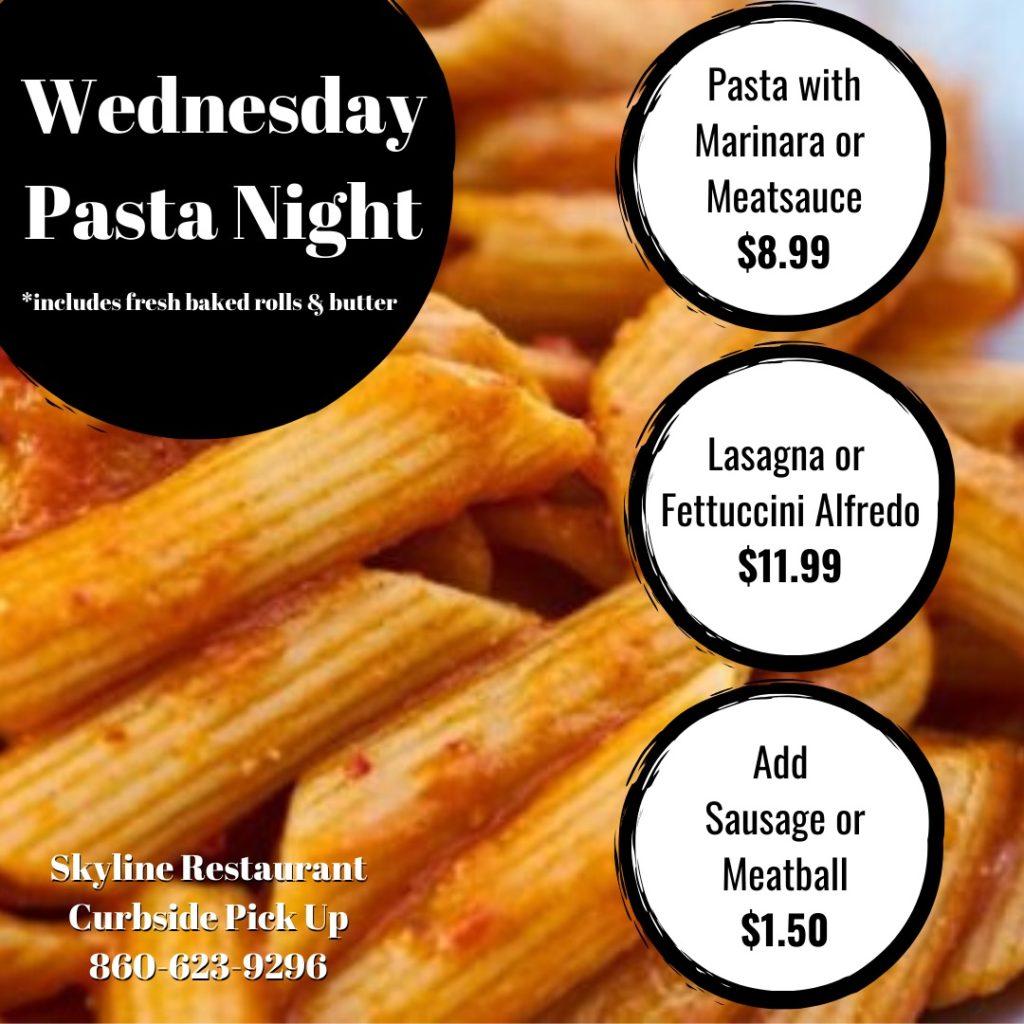 Skyline Restaurant Pasta Night