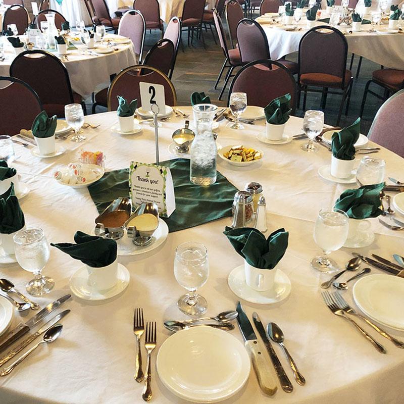 Skyline Restaurant Party Setup