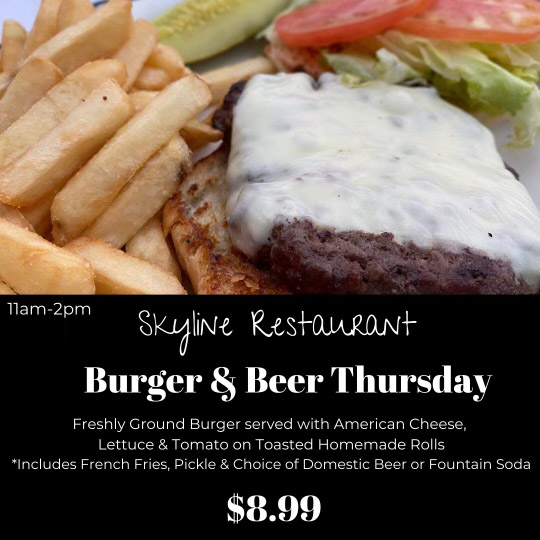 Skyline Restaurant Burger Special