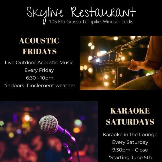 Acoustic Fridays and Karaoke Saturday