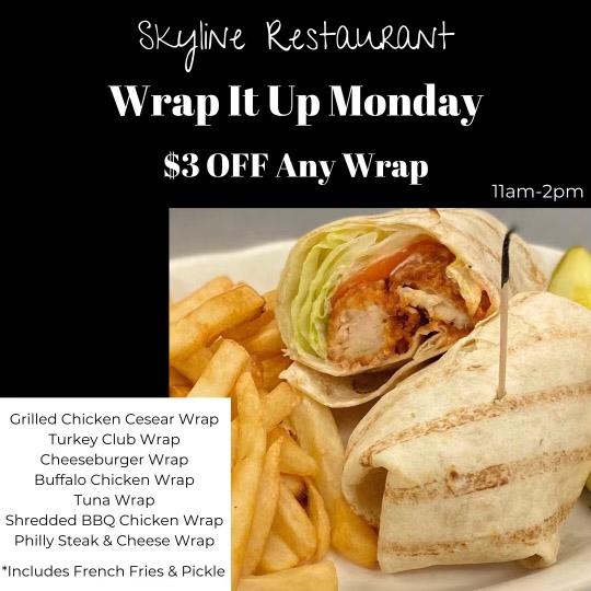 Skyline Restaurant Wrap Special