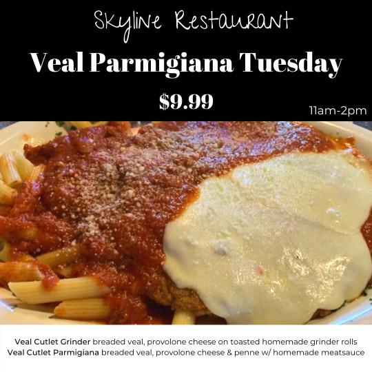 Skyline Restaurant, Veal Parm Special