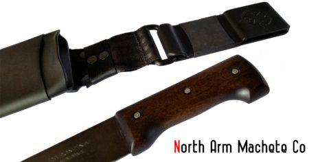 Tramontina machete bolo and sheath from North Arm Machete Co