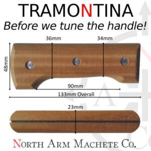 Tramontina Machete handle dimension and size