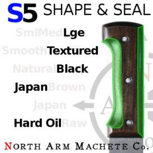 Tramontina machete handle shaped and sealed North Arm Machete Co
