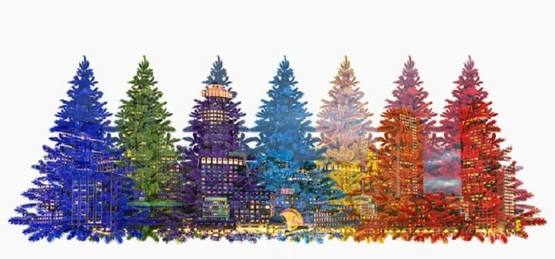 Christmas Trees by Color